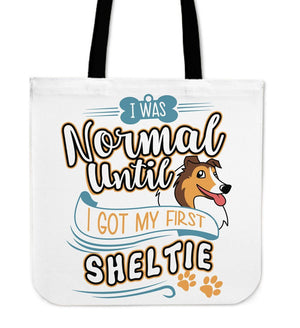 Tote Bags - My First Sheltie Tote Bag