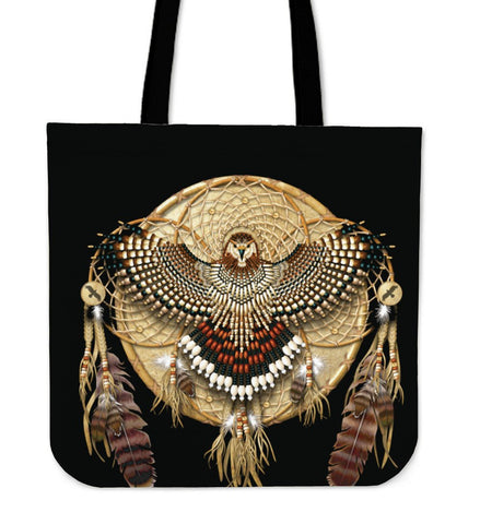 Native American Owl Dreamcatcher Tote Bag
