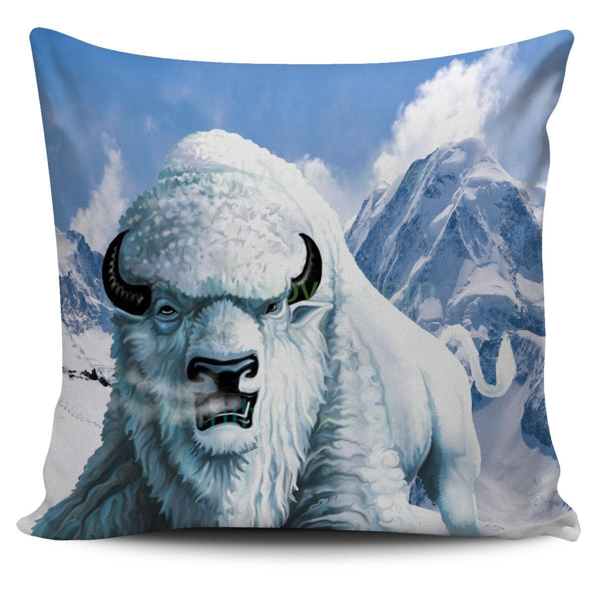 Buy NATIVE AMERICAN WHITE BUFFALO PILLOW at Familyloves for only ...