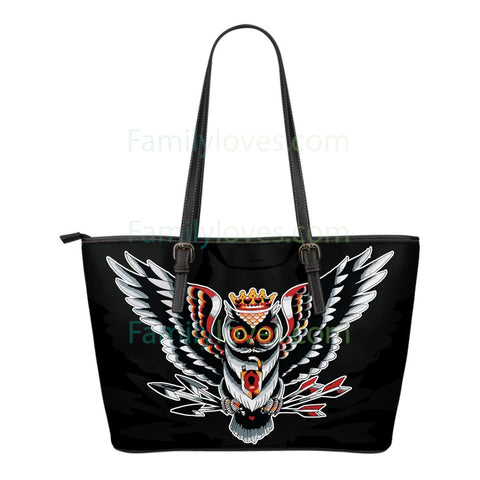 Native American Owl Large Leather Bags