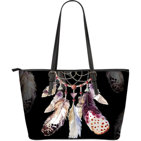 Native American Dreamcatcher Large Leather BagsFamilyloves