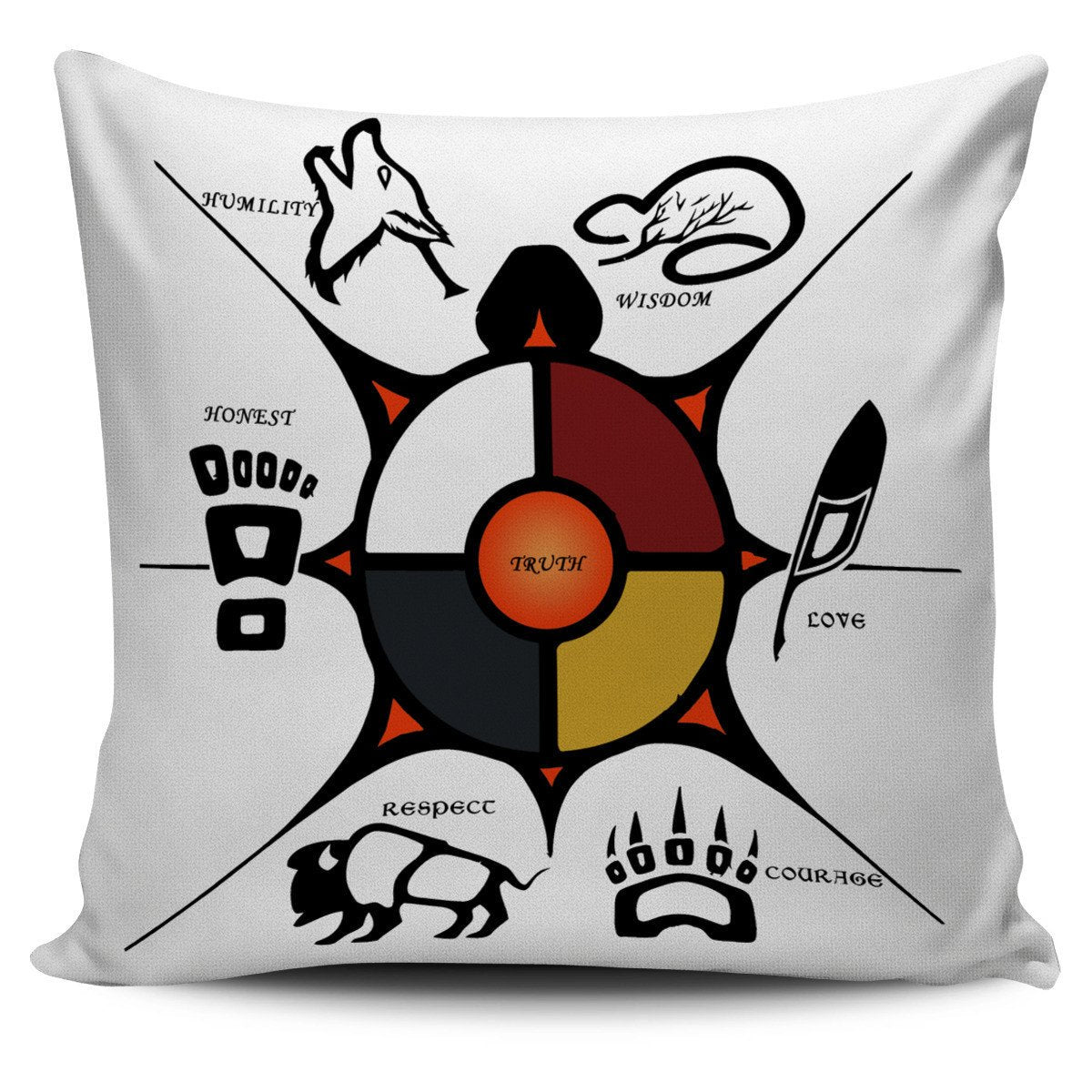 Buy Native American Seven Sacred Grandfather Teachings Pillow at ...