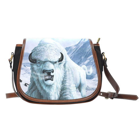NATIVE AMERICAN  WHITE BUFFALO SADDLE BAGS