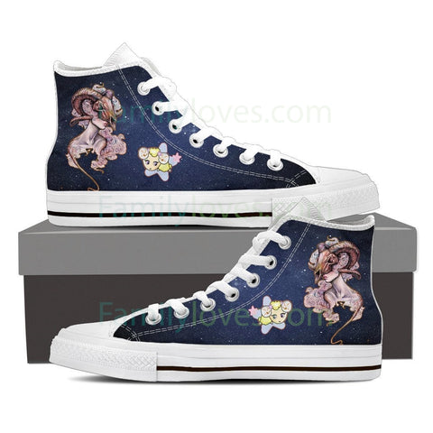 Aries High Shoes White