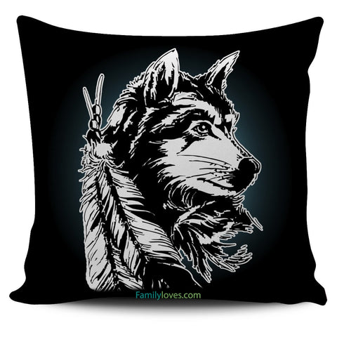 NATIVE AMERICAN WOLF PILLOWS