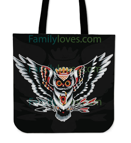 Native American Owl Tote Bag