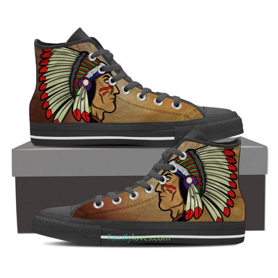 Buy Native American face shoes - Familyloves hoodies t-shirt jacket mug cheapest free shipping 50% off