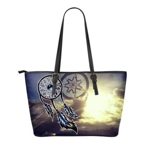 Native American Couple Dreamcatcher Small Leather Bags