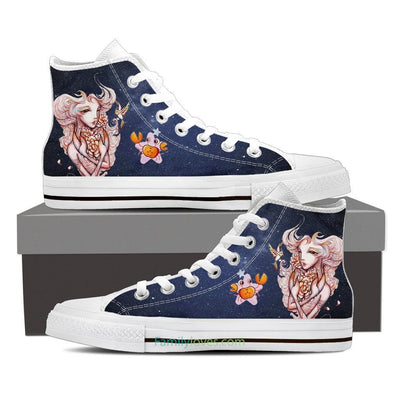 Cancer High Shoes Blue