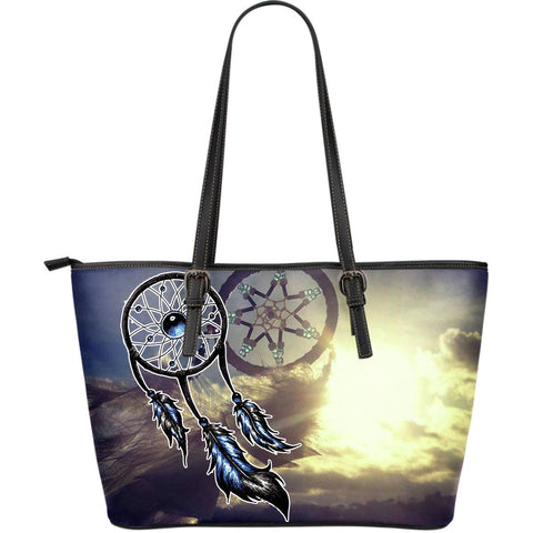 Native American Couple Dreamcatcher Large Leather Bags