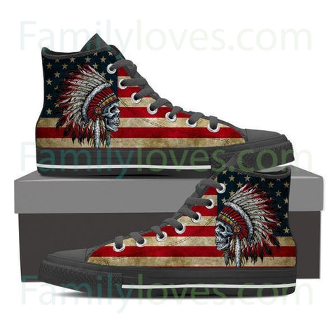 #1 Native american skull shoes for women