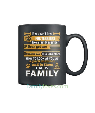 Buy FOX TERRIERS  DOG - MUGS - Familyloves hoodies t-shirt jacket mug cheapest free shipping 50% off