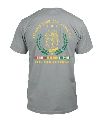 Buy ALL GAVE SOME, 58479 GAVE ALL, Vietnam Veterans of America - Mens V-Neck - Familyloves hoodies t-shirt jacket mug cheapest free shipping 50% off
