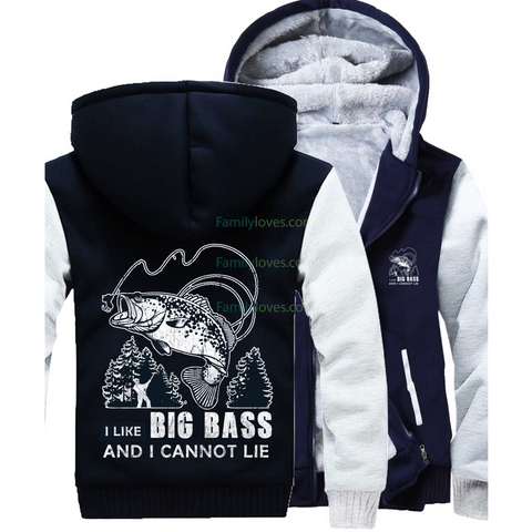 I like Big Bass Fishing Sweatshirts jacket hoodieFamilyloves