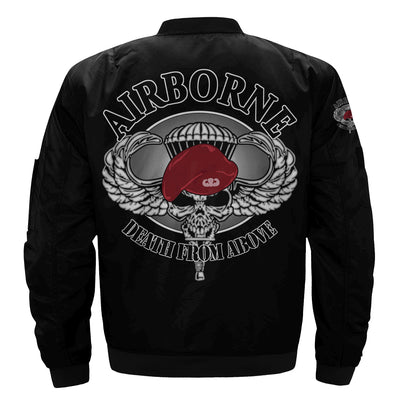 Buy Airborne death from above over print jacket - Familyloves hoodies t-shirt jacket mug cheapest free shipping 50% off