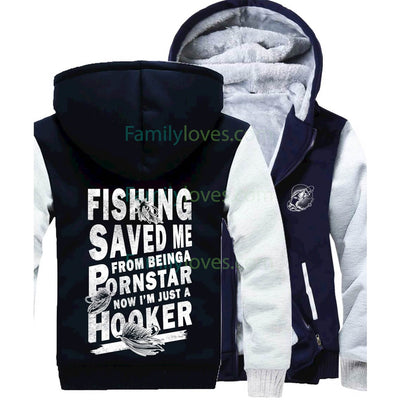 Buy Fishing Saved Me Sweatshirts - Familyloves hoodies t-shirt jacket mug cheapest free shipping 50% off