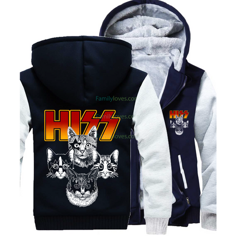 hizz cat zip hoodie for woman man