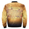 American Indian Tribes over print bomber jacket