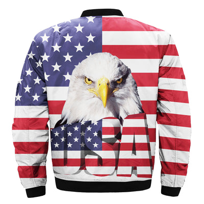Buy BIG USA EAGLE 3D over print Bomber jacket - Familyloves hoodies t-shirt jacket mug cheapest free shipping 50% off