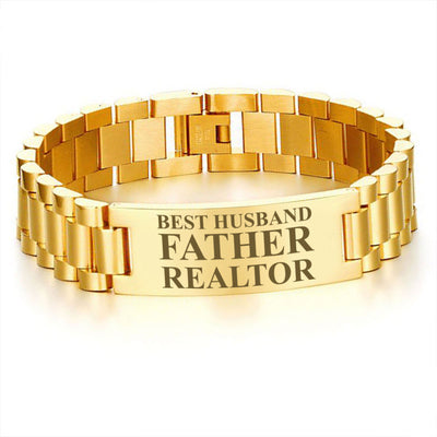 Best husband father realtor-men bracelets