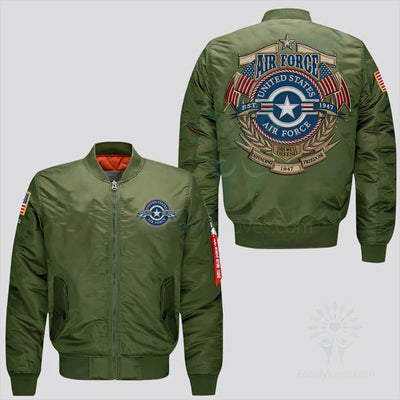 Buy U.S AIR FORCE EMBROIDERED JACKET, THIS WE'LL DEFEND, DEFENDING FREEDOM - Familyloves hoodies t-shirt jacket mug cheapest free shipping 50% off