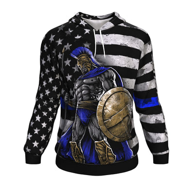 Buy Blue Line Warrior ugly christmas hoodie - Familyloves hoodies t-shirt jacket mug cheapest free shipping 50% off
