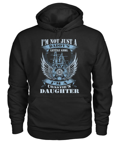 Buy i'm not just a daddy's little girl i'm a coastie's daughter Hoodies/Tshirt - Familyloves hoodies t-shirt jacket mug cheapest free shipping 50% off