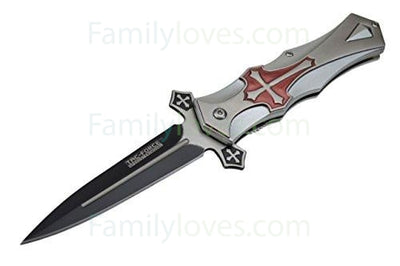 Buy Cross Folding Blade Pocket Knife - Familyloves hoodies t-shirt jacket mug cheapest free shipping 50% off