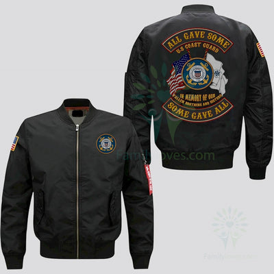Buy EMBROIDERED JACKET U.S COAST GUARD, ALL GAVE SOME SOME GAVE ALL, IN MEMORY OF OUR FALLEN BROTHERS AND SISTERS - Familyloves hoodies t-shirt jacket mug cheapest free shipping 50% off