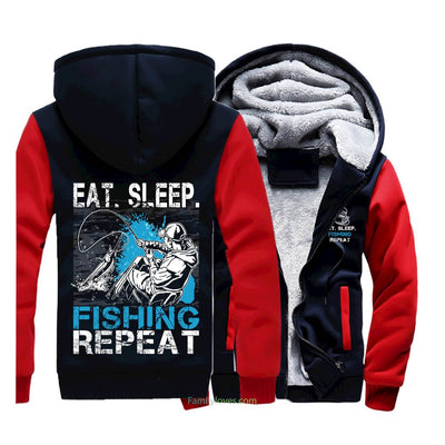 Buy EAT SLEEP FISHING SWEATSHIRTS JACKET HOODIE - Familyloves hoodies t-shirt jacket mug cheapest free shipping 50% off
