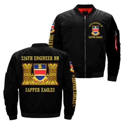 326th engineer bn sapper eagles over print jacket