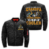 i'm a biker grandpa just like a normal grandpa except much cooler over print Bomber jacket
