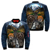 Native American Clothing - Bear Wolf Owl Fox 3D OVER PRINT BOMBER JACKET