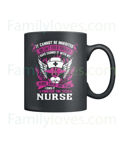 Forever The Title Nurse Mugs
