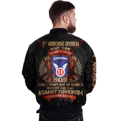 Buy 11th airborne division don't thing because my times has... over print jacket - Familyloves hoodies t-shirt jacket mug cheapest free shipping 50% off