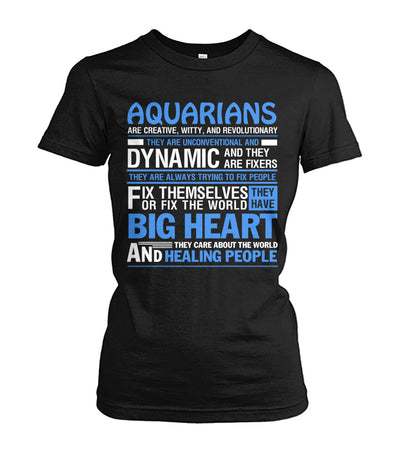 Buy Aquarians are creative, witty, and revolutionary zodiac signs men & women t-shirt - Familyloves hoodies t-shirt jacket mug cheapest free shipping 50% off