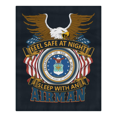 Buy DUVET COVER AND PILLOWCASES FEEL SAFE AT NIGHT SLEEP WITH AN AIRMAN - Familyloves hoodies t-shirt jacket mug cheapest free shipping 50% off