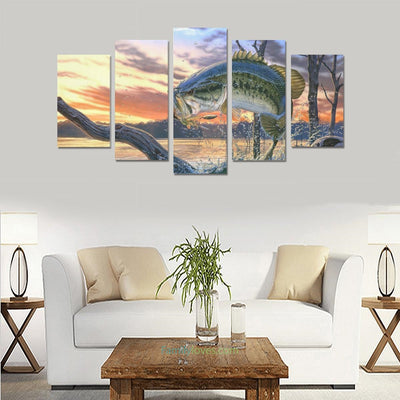 Buy Fishing wall art fly fish 5 Pieces Canvas - Familyloves hoodies t-shirt jacket mug cheapest free shipping 50% off