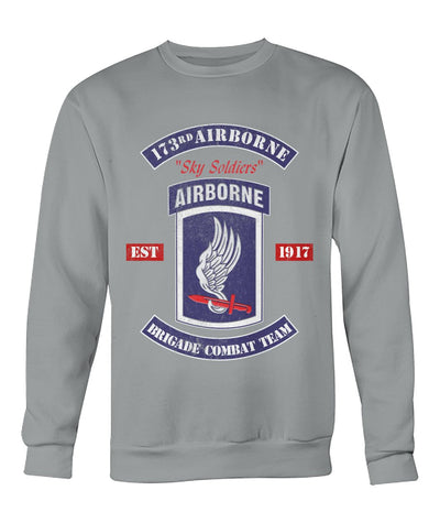 Buy 173rd airborne sky soldiers airborne brigade combat team hoodie, sweatshirt, t-shirt - Familyloves hoodies t-shirt jacket mug cheapest free shipping 50% off