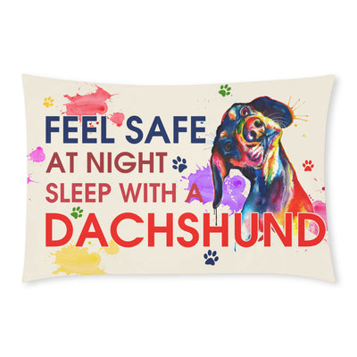Buy Feel Safe At Night Sleep With a DachShund v2 - Familyloves hoodies t-shirt jacket mug cheapest free shipping 50% off