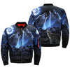 Buy Wolves Howling Moon over print bomber jacket - Familyloves hoodies t-shirt jacket mug cheapest free shipping 50% off