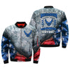 i wanted to serve, i volunteered to serve, i knew what i was doing, U.S Air Force over print Bomber jacket