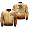 Americans have the right and advantages of being armed... over print Bomber jacket