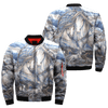 horse art american indian over print bomber jacket
