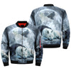 The wolf native american OVER PRINT BOMBER JACKET
