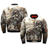 Native American eagle OVER PRINT BOMBER JACKET