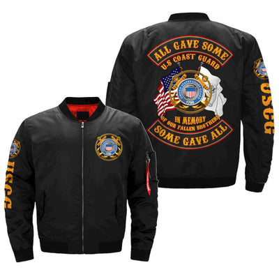 ALL GAVE SOME - SOME GAVE ALL - U.S.COAST GUARD OVER PRINT JACKET