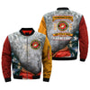 i wanted to serve, i volunteered to serve, i knew what i was doing, U.S Marine Corps over print Bomber jacket