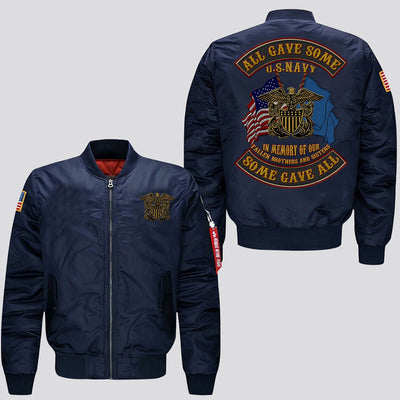 Buy EMBROIDERED JACKET U.S.NAVY, ALL GAVE SOME SOME GAVE ALL, IN MEMORY OF OUR FALLEN BROTHERS AND SISTERS - Familyloves hoodies t-shirt jacket mug cheapest free shipping 50% off