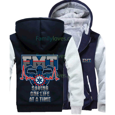 Buy EMT JACKET - SAVING ONE LIFE AT A TIME - Familyloves hoodies t-shirt jacket mug cheapest free shipping 50% off
